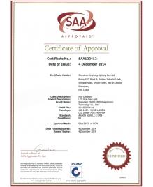 LED工矿灯SAA证书