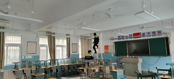 十堰市东风小学LED护眼灯改造
