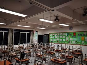 东莞市步步高小学LED护眼灯改造